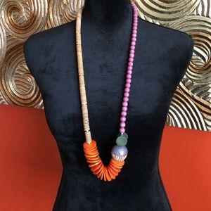 Anthropologie Wooden Necklace